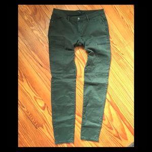 Prana skinny pocket pants pine green